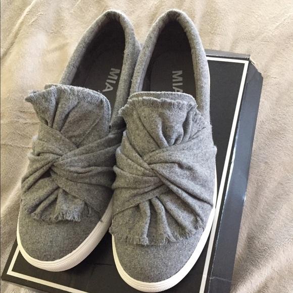 Mia Gray Slip On Fashion Sneakers Size 10M