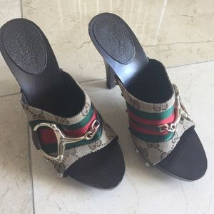 Gucci Shoes - Gucci authentic mules 4 inch heels size 6 (36)