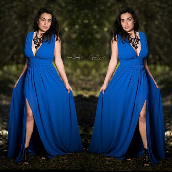 ec9900e175 Lulus Royal Blue Heavenly hues maxi dress