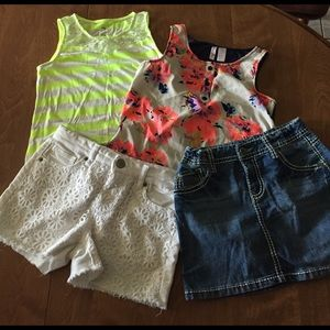 4 pc Girls Size 10/12 Summer Outfit Bundle - G14