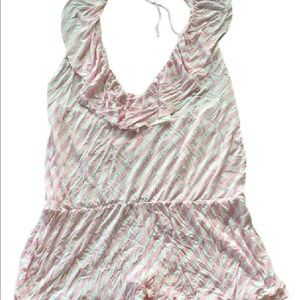 Victoria's Secret Pink and White Swimsuit Cover Up