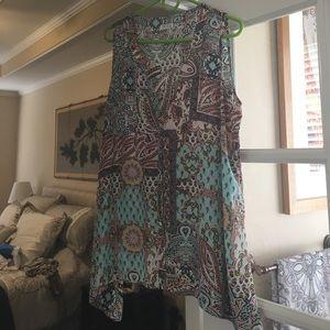 Spense Tops - Spence sleeveless multi colored blouse