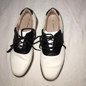 Jumping Jacks Shoes - JUMPING JACKS CHEERLEADER SADDLE SHOES 8.5M