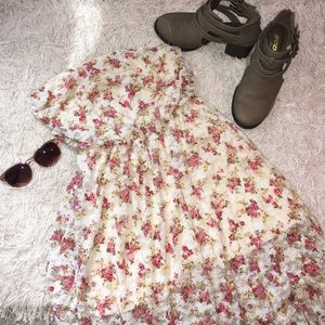 DNA Couture Dresses & Skirts - High-Low Laced Floral Dress