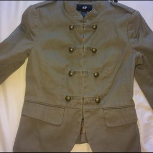 H&M Military Blazer in olive green, sz 4