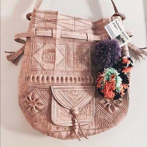 Reclaimed Vintage Handbags - New item! 🌷Boho leather shoulder bag! 🌸