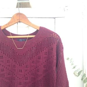 🆕 AE aztec crochet sweater
