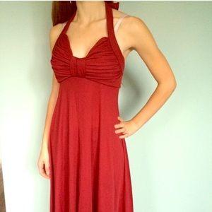 American Vintage Dresses & Skirts - Beautiful Vintage Red Gown