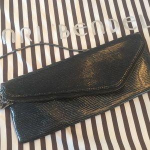 henri bendel Handbags - Henri Bendel Patent Black Evening Clutch