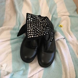 traffic Shoes - Studded black combat style boots traffic Sz 6