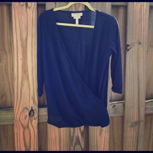 Jessica Simpson blue nursing top