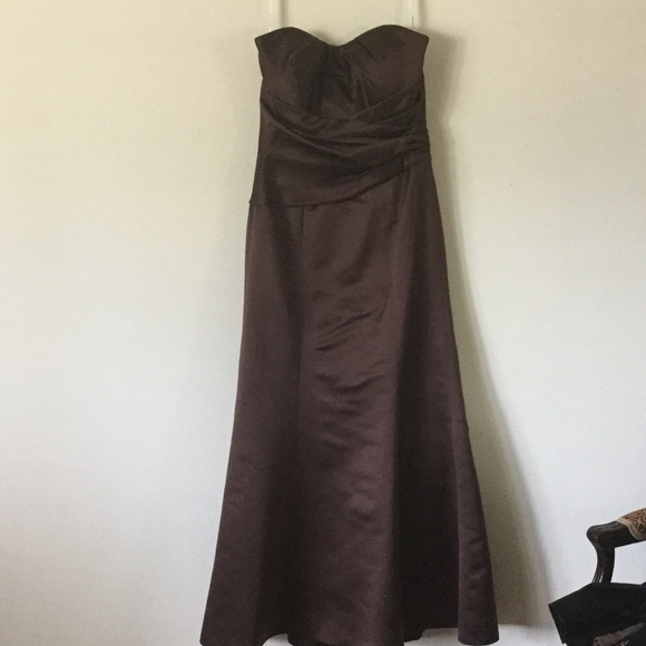 belsoie Dresses | Brown Tubetop Maxi Dress Evening Gown | Poshmark