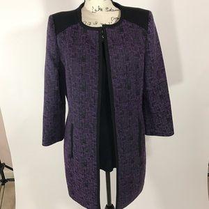 Mary Kay Jackets & Blazers - NWT Mary Kay by Twin Hill Long Purple Coat
