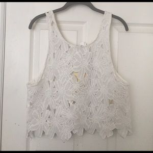 Sale!! White lace crop top from LF