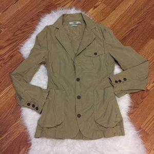 EDUN Other - Men khaki pea coat worn once perfect condition S
