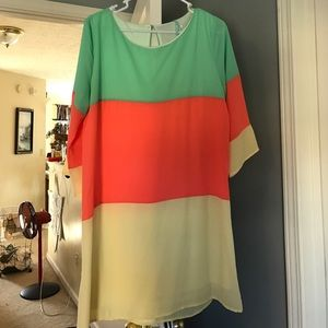 Lulu's Dresses & Skirts - Colorblock dress - perfect for spring! Size L