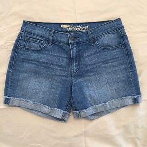 Old Navy Pants - .Old Navy. Sweetheart cuffed denim shorts