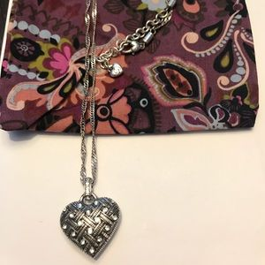 Brighton Jewelry - Brighton Heart Necklace with pouch