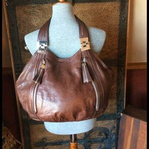 b. makowsky Handbags - B. Makowsky Brown Leather Hobo