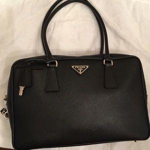 Prada Handbags - Authentic Prada Bauletto Saffiano Leather Med Bag