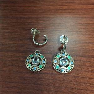 John Hardy Jewelry - AUTHENTIC JOHN HARDY SS Topaz 2 in 1 earrings NWT