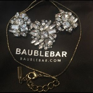Bauble Bar Jewelry - Crystal BaubleBar necklace.Vintage brasstone chain