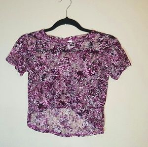 Vintage Tops - VINTAGE Stretch Sheer Magenta Crop Top XS