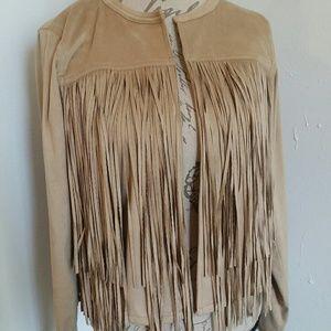 Michael Kors Jackets & Blazers - NWT Michael Kor's Leather Fringe Jacket