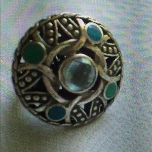 John Hardy Jewelry - AUTHENTIC JOHN HARDY NWT Round SS Blue Topaz ring
