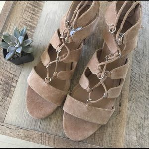 Steve Madden Shoes - • nude lace heels •