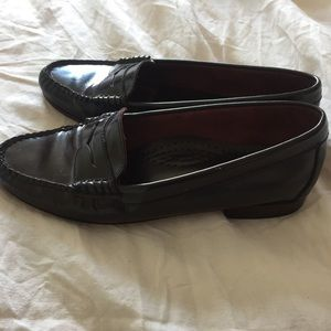 Classic brown Bass Weejuns penny loafers