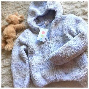 Angel Dear Other - Angel Dear chenille hoodie, 3T NWT, blue/grey
