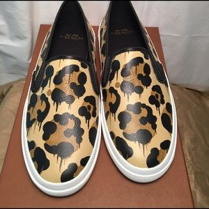 Coach Chrissy Animal Print slip on shoes