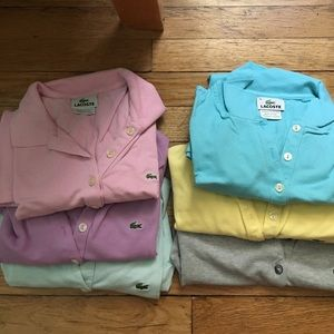 Lacoste Tops - Lacoste Colored Polos Size 38