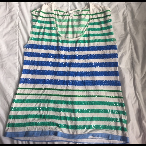Old Navy Tops - cute sequins striped tank top old navy L