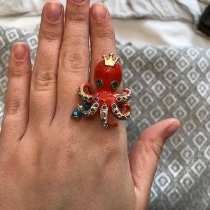 Betsey Johnson Octopus  Ring