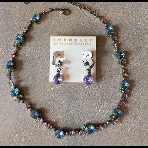Sorrelli Jewelry - Sorreli Swarovski crystal necklace and earring
