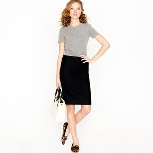 J. Crew Dresses & Skirts - J. Crew wool no 2 pencil skirt in black sz 0P