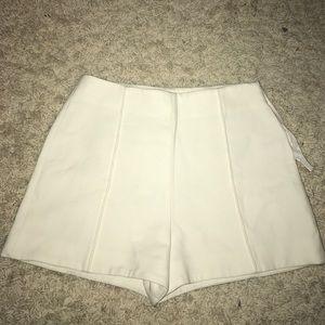 ZARA high waisted white shorts
