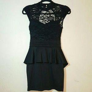 Vintage Dresses & Skirts - Mad Men Inspired Sexy Lace Vintage Peplum Dress