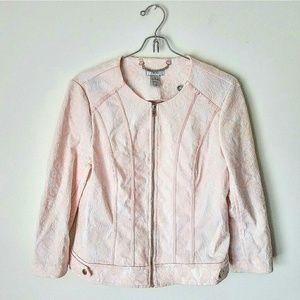 Cache Jackets & Blazers - Cache Pink Lace Jacket