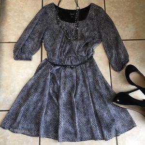 Amy Byer Dresses & Skirts - Elegant A. Byer Sheer-Sleeve Belted Dress