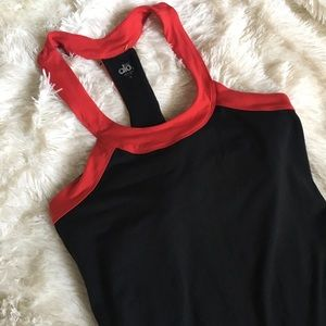 ALO Yoga Tops - Alo red & black tank top