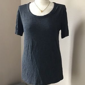 Zenana Outfitters Tops - Charcoal Grey Roundneck T