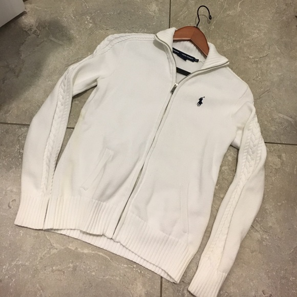Polo by Ralph Lauren - Pure white Polo zip up sweater... from ...