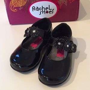 Rachel Other - Worn once! black Velcro Mary Jane baby shoes