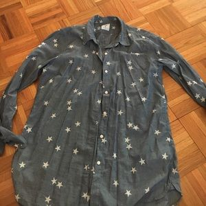 Gap chambray stars boyfriend shirt