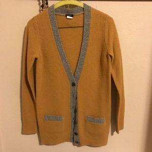 J. Crew Sweaters - J. Crew Mustard and Grey Wool Sweater