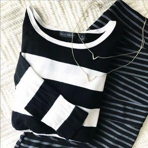 Willi Smith Tops - Willi Smith EUC Black and White Striped Sweater