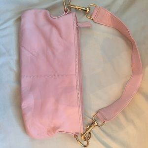 Handbags - Excellent cond genuine leather pink purse/clutch